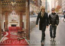 Coupure de presse Clipping 2007 Stefano Gabbana & Domenico Dolce  (4 pages)