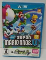 New Super Mario Bros. U + New Super Luigi U Nintendo Wii U Game Working