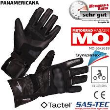 MODEKA Motorradhandschuhe PANAMERICANA schwarz Sympatex CE Protektoren 12 / 3XL