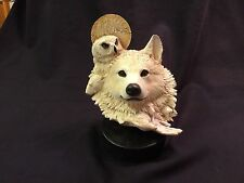 """Rick Cain Limited Edition """"Arctic Totem"""" 1680/2000 Carved Arctic Wolf"""