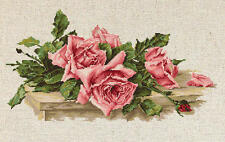 Counted Cross Stitch kit Luca-S- Pink Roses #BL22400