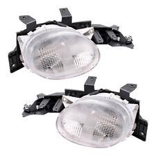 New Pair Set Headlight Headlamp Lens Housing for 95-99 Dodge Plymouth Neon
