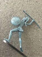 Vintage Greek warrior  plastic toy soldier's from detergent KLIN 1960's Greece