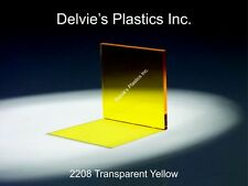 "1/4"" 2208 Transparent Yellow Cell Cast Acrylic Sheet  24"" x 24"""