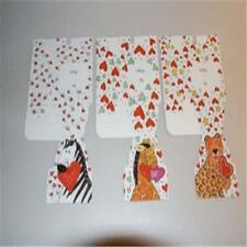 12 Current Mini Valentine Treat Boxes (4 Zebra, 4 Giraffe, 4 Leopard) New!