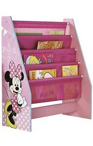 Disney Minnie Mouse Kids Sling Bookcase Children's Bedroom Storage Girls MDF New