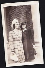 Old Vintage Antique Photograph Two Women Wearing The Coolest Outfits Ever!