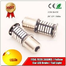 1x1156 BA15S 7020 36 SMD 560LM LED Amber Yellow Turn Indicator Bulb Super Bright