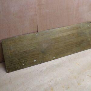"""Brass Door Kick Plate Large 29 1/2"""" x 9"""" Reclaimed Vintage Heavy Duty READ DESC"""