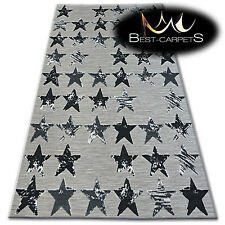 LISBON STYLE MODERN RUG black stars 'LISBOA' beautiful weaving CARPETS