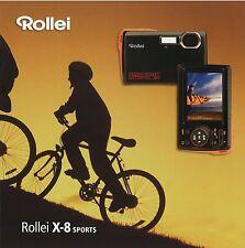 PROSPEKT BROCHURE Rollei x-8 Sports Fotocamera Digitale Fotocamera prospetto Pubblicità Catalogo