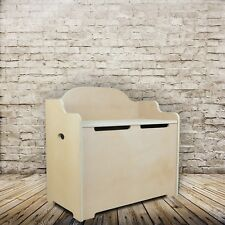 Plain MDF Sitting And Storage Box - 2 in 1 Sit On Lid, bench & Linen, Toy Chest