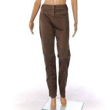MARIELLA ROSATI Trousers Khaki Brown Cotton Straight Leg Size 46 / UK 14 FX 882