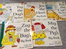 Lot 5 DK Big Books Colin & Jaqui Hawkins PAT THE CAT mig pig TOG DOG zug bug HEN