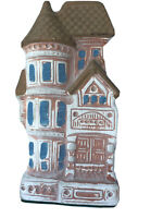 Vintage Victorian House Wall Pocket Vase Planter Painted Porcelain Taiwan