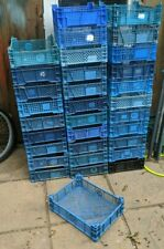 30+ Joblot Small Plastic Stacking Storage Crates 40 x 30 x 11 cm Blue Black