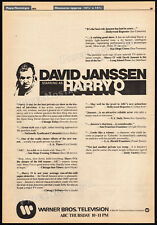 HARRY O__Original 1974 Trade print AD / TV series promo / poster__DAVID JANSSEN