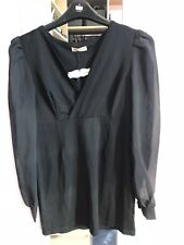 BNWT Playful Promises black dress bodycon fitted sheer sleeves size 14