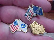 Masonic Fraternal Tie Tack Tac Lot  Mason Pin   (16E1)