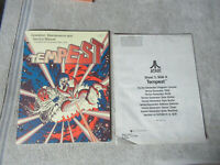 1ST PRINTING TEMPEST ATARI W/ 3RD SCHEMATIC SHEEL ONLY   arcade game manual