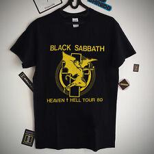 Black Sabbath Shirt Vintage band tee 1980 Heaven And Hell Tour Conce Shirt S-XXL
