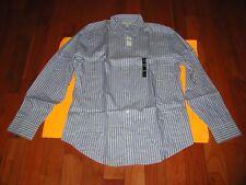 Banana Republic Long Sleeve Dress Shirt Large (L) 16/ 161/2  Blue / White Stripe