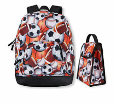 The Children's Place Boys Black Sports Ball Backpack & Lunch Box Set NWT