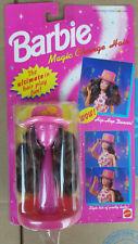 Barbie WIG Brunette Pink Hat Barbie Magic Change Hair 1993 Mattel # 68090