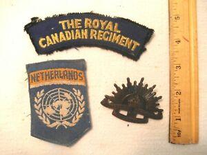 Royal Canadian Regiment UN Netherlands Patches Australia Hat Badge Korean War Tr