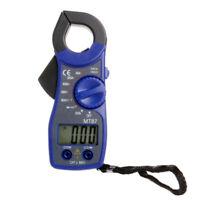 Digital Multi Meter Blue DC/AC Voltage Current Tester Measure Clamp Ammeter Test