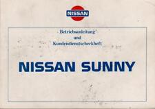 NISSAN SUNNY Betriebsanleitung 1987 Bedienungsanleitung N13 Handbuch Bordbuch BA