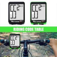LCD Bicycle Bike Cycling MTB Computer Odometer Speedometer Wireless M9X5