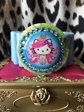 Tarina Tarantino Pink Head Hello Kitty Blue Nouveau Bohemian Swarovski Bracelet