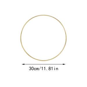 10-40cm Gold Floral Hoop Metal Ring Flower Wreath Garland Wedding Hanging Decor
