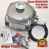 Atosa W0301905 Evaporator Fan Motor 120V + Instructions, Hardware - SHIPS TODAY!