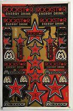 15 Red Rockstar Energy Stickers Decals Bike MTB Folks Motocross Helmet Quad