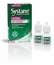 Systane Ultra Lubricant Eye Drops, 2x 10mL 1/3 FL OZ TWIN PACK Alcon