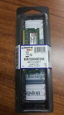 LOT OF 6 PCS. KINGSTON KVR133X64SC3/64 64MB 133MHz Non-ECC CL3 SODIMM