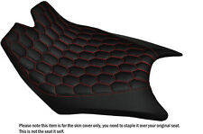 HEX RED STITCHING CUSTOM FITS KTM RC8  FRONT RIDER REAL LEATHER SEAT COVER