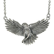 Solid Sterling Silver American Eagle Necklace Bird of Prey Jewelry 18 inch chain