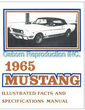 Mustang Fact Book 1965 - Osborn Reproductions