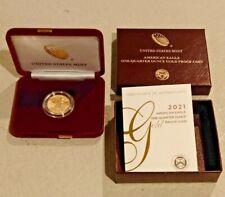 2021 W 21ED $10 One-Quarter Ounce American Eagle Gold Coin 1/4oz