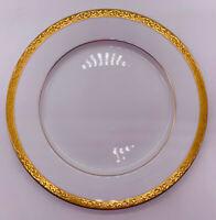 "Vintage Nikko Fine China Gold Filigree 10 3/4"" Dinner Plate Gilded Edges"