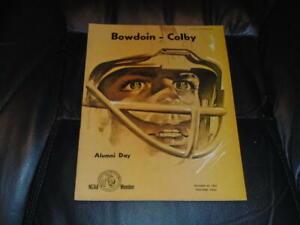 1967 COLBY AT BOWDOIN FOOTBALL PROGRAM EX-MINT