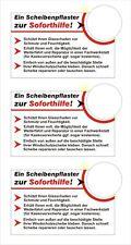 3 x Steinschlagpflaster Erste Hilfe Windschutzscheibe Autoscheibe Nr. 7729