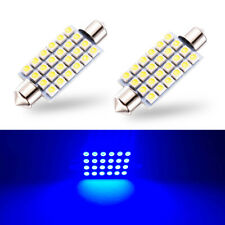 2 x Blue LED Interior Map Dome Trunk Lights 42mm 578 211-2 212-2 Festoon Bulbs