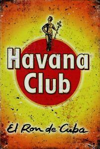 """Retro Blechschild Vintage Nostalgie look 20x30cm """"Havana Club"""" neu"""