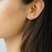 925 Sterlingsilber Damen Ohrringe Ohrklemme Geometrisch Ohrstecker Silber NEU