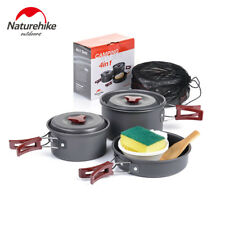 Naturehike 4-in-1 Pot Set Portable Camping Picnic Cooking Pot Pan for 2-3 Person