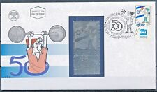 ISRAEL 1998 50th INDEPENDENCE DAY SRULIC FDC WITH SILVER STAMP MINT